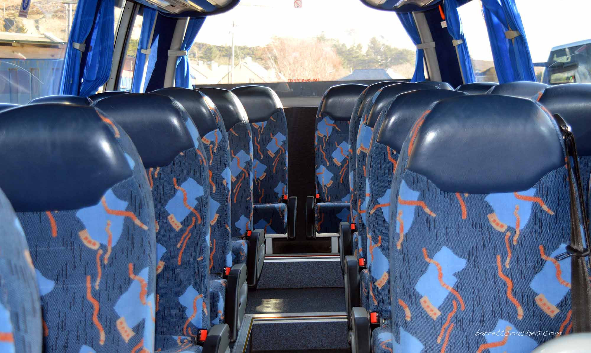 Barrett Coaches 22 seater interior