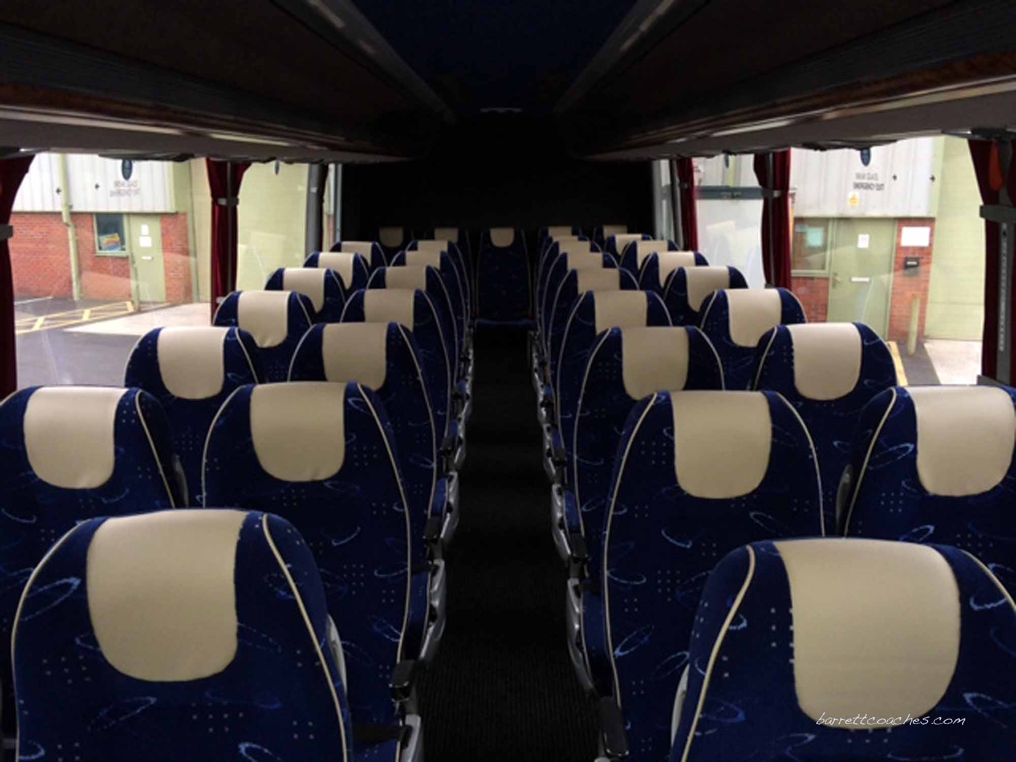 Barrett Coaches 53 seater interior