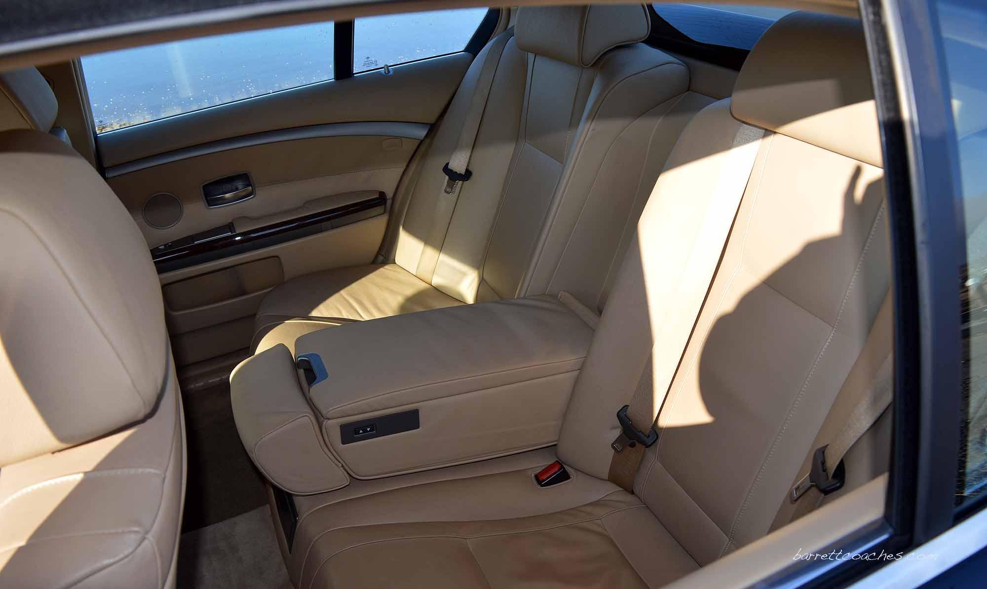 Barrett Coaches Chauffeur driven car interior